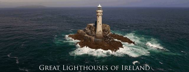 Th iconic Fastnet Rock Lighthouse off the south-west tip of Ireland is among many lighthouses featured in the new four-part documentary series.