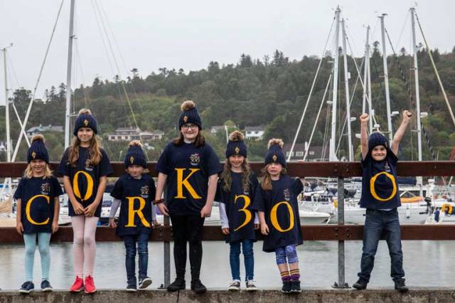 Maeve Deane, Clara Deane, Dylan O'Sullivan, Katie Moorehead,  Abigail O'Sullivan  Pollyanna Downing and Ryan O'Connell pictured at the launch of Cork300