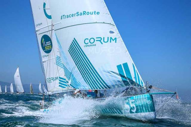 The new Class 40 Corum takes the lead at this year's Volvo Round Ireland Race start on June 30th. She is currently fleet leader leader off the coast of Kerry in the RORC Sevenstar RB & I Race