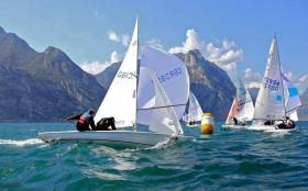 An image from the 2012 Flying Fifteen Europeans on Lake Garda