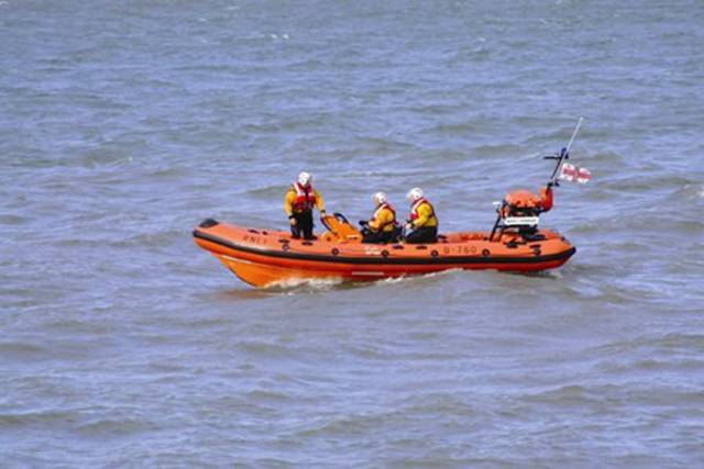Helvick Head Lifeboat Crew Rescue Man From Water After Pier Car Crash