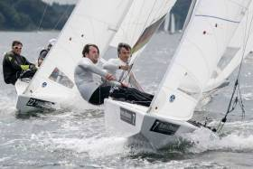 Peter and Robert O'Leary competing in the 2018 Star Europeans Championship in Flensburg, Germany last August