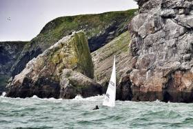Laser racing off Howth in the annual Round the Island Race