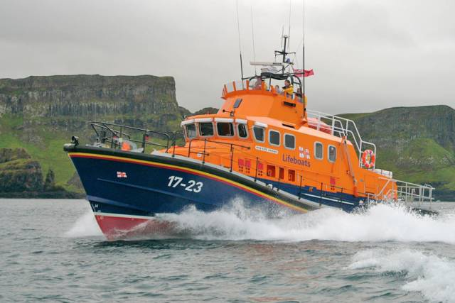 Arranmore RNLI operates a Severn class lifeboat like this one, Portrush RNLI's erstwhile Katie Hannan