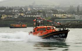 File photo of Wicklow's relief all-weather lifeboat Jock and Annie Slater