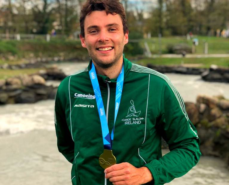 Canoeist Liam Jegou Wins World Cup Gold Medal at Pau France