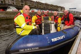 Left to right: Voluntary crew Dinny Kiely, David O' Leary, Chris O'Donovan, Edwin O'Sullivan and Kieran Coniry