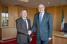Minister for Agriculture, Food and the Marine, Michael Creed TD (left) met European Commissioner for Agriculture and Rural Development, Phil Hogan