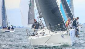 Ronan Harris's J109 Jigamaree was third in DBSC Class One last night