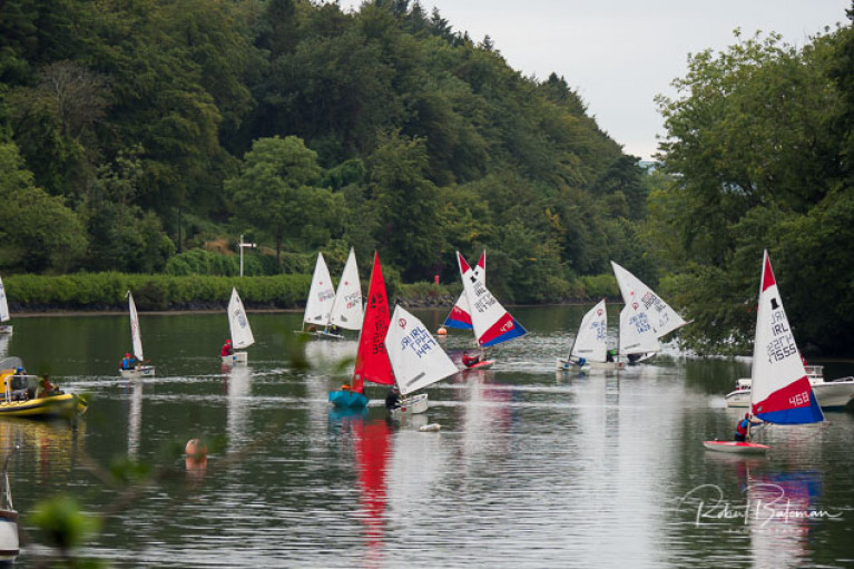 Dinghies racing in the Coolmore race on the Owenabue River at Crosshaven. Scroll down for photos