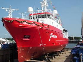 The MV Fugro Helmert is carrying out the cable route survey east-northeast of Loughshinny