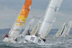 Tom Dolan, originally from Co. Meath, competing in the 2016 French Offshore Racing Series in his Cailin Rua 11, a new 6.5m Pogo. His chief aim this season is to participate in the 4,000 mile Mini Transat 2017 Race for solo sailors.