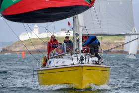 Cork Harbour yachts will race against Dunmore East rivals, such as Robert Marchant's yellow–hulled Fulmar 32 Fulmar Fever from Waterford Harbour SC, when they compete in a new Coastal Race to dominate the June Bank Holiday Weekend