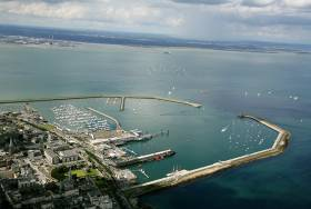 Dun Laoghaire Harbour, Ireland's biggest sailing centre, where a new cruise ship terminal will be built limited to 250 metres in length