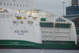 WB Yeats berthed in Alexandra Basin earlier this year before its switch to the Dublin-Cherbourg route