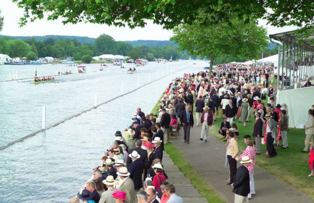 The view from the bank at Henley Royal Regatta.