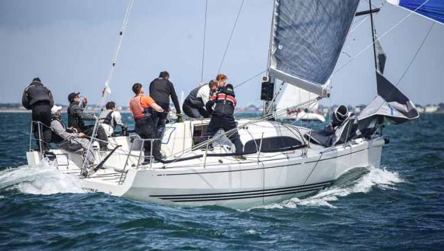 Colin Byrne skippered XP33 Bon Exemple from the Royal Irish Yacht Club to victory in today's DBSC Class One IRC race. Full results below