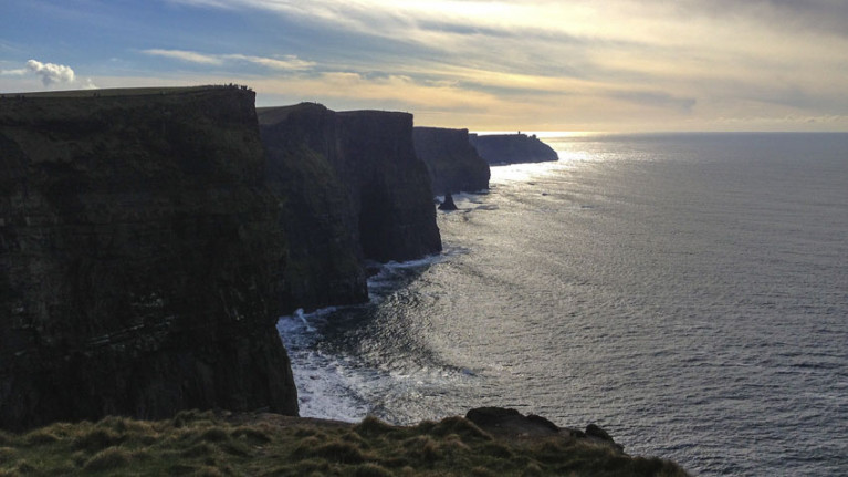File image of the Cliffs of Moher in Co Clare