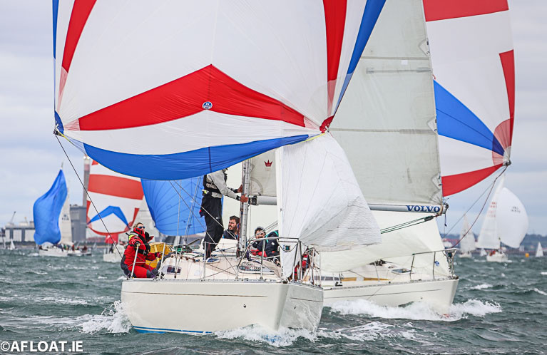 Sigma 33 keelboat racing on Dublin Bay at the Volvo Dun Laoghaire Regatta 2019. With luck, sailing will be back and there can still be a rewarding season ahead in 2020