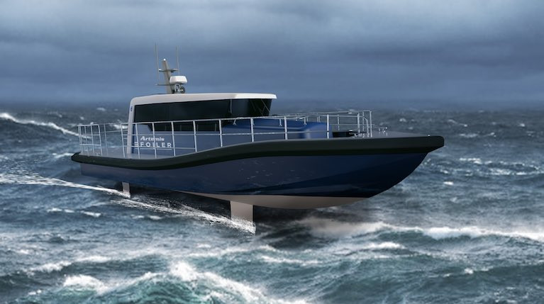 Electric Foiling Workboat Concept Unveiled By Artemis Technologies