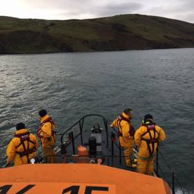 Red Bay lifeboat volunteers searching off the Antrim coast on Sunday 18 December