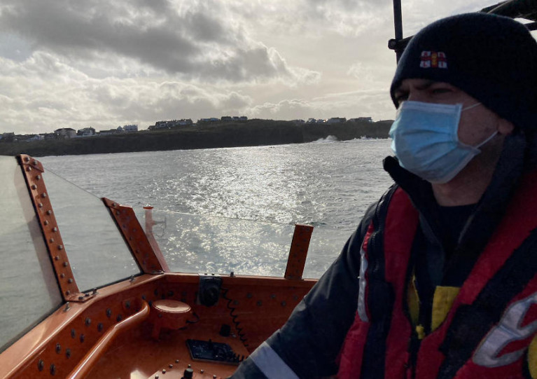 Dave Robinson is coxswain with Portrush RNLI