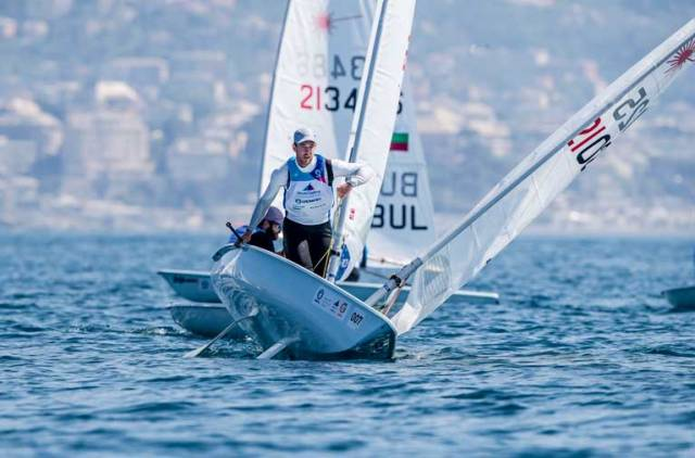 Finn Lynch Eyes Overall Lead at Laser World Cup in Genoa