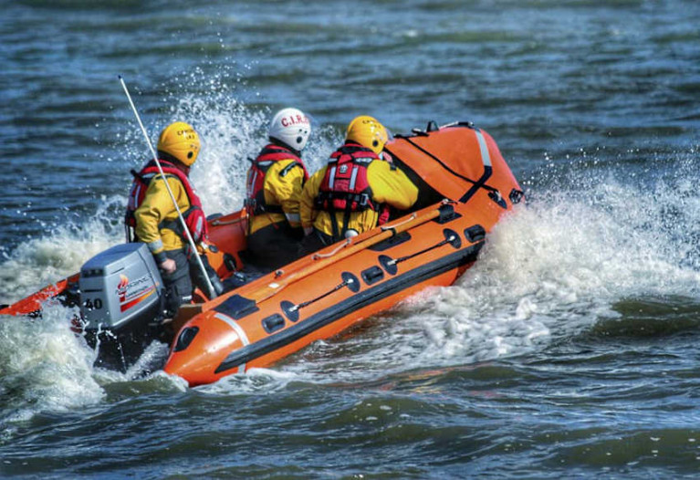 The Cahore Inshore Rescue Service lifeboat