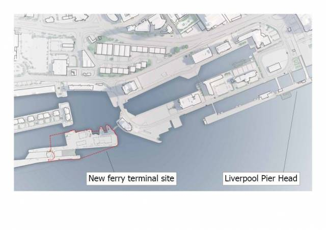 Location of the new ferry terminal for Isle of Man Steam-Packet in the Port of Liverpool