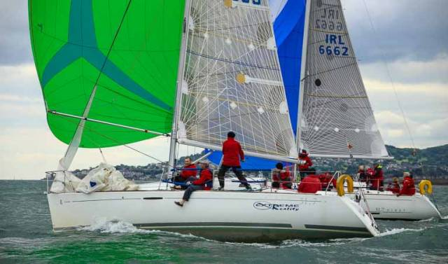 Tonight's Beneteau 31.7 (Echo) race was won by Levante (M.Leahy/J.Power). Lorcan Balfe's Extreme Reality (above) was third. Full results downloadable below