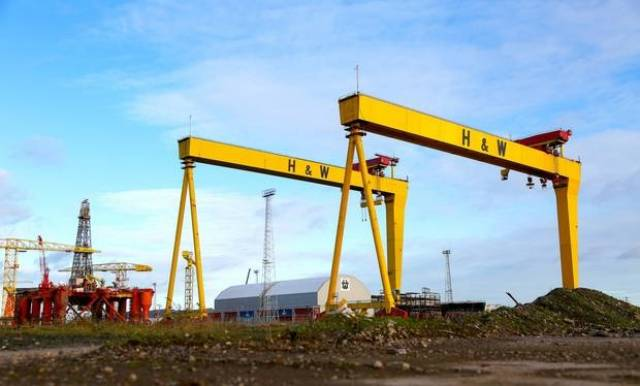 Harland and Wolff, Belfast, the marine, engineering and offshore renewables energy manufacturing facility located on Queens Island