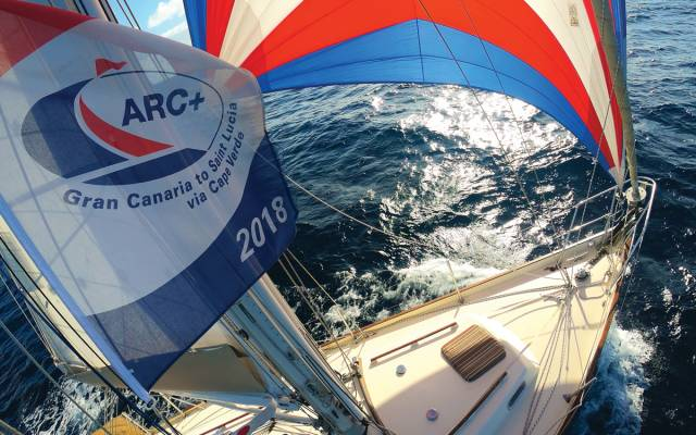 Tradewind sailing of the Atlantic Rally for Cruisers (ARC) 2018