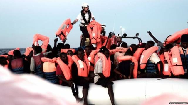 SOS Méditerranée posted photos of rescued migrants