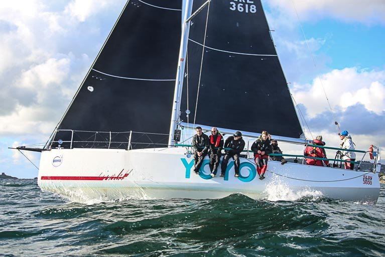 Brendan Coghlan's Royal St George Yacht Club Yoyo is the latest Sunfast 3600 signed up for the Round Ireland Race