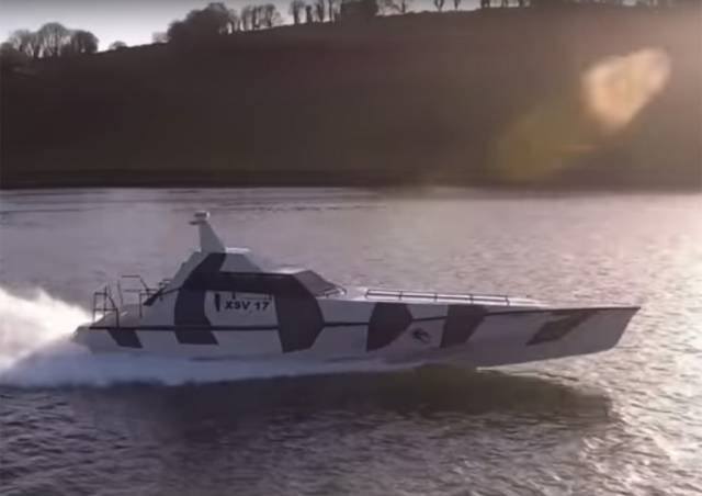 Thunder Child undergoing performance trials in Cork Harbour last month