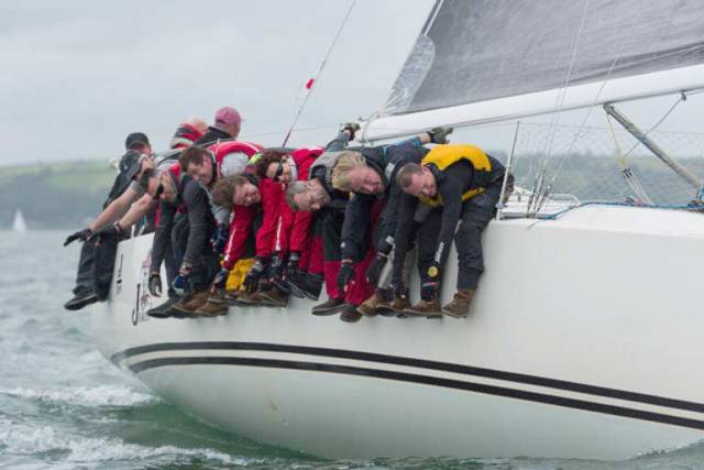 The Joker II crew from Dun Laoghaire skippered by John Maybury will defend their ICRA crown in Galway Bay