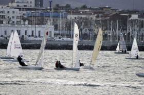 The DMYC dinghy fleet race course at Dun Laoghaire
