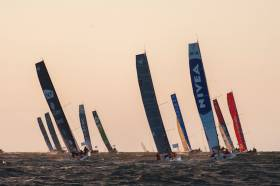 Class 40s racing in The Transat, which will now start in Brest for 2020 instead of Plymouth