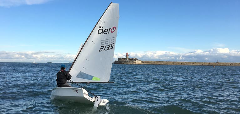 RS Aero - singlehanded sailing at Dun Laoghaire Harbour