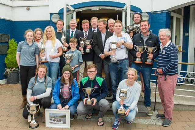 2017 ICRA Prizewinners gathered at Royal Cork Yacht Club. Scroll down for more prizegiving photos