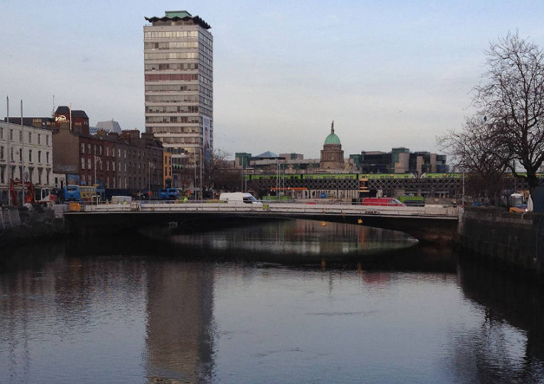 File image of Rosie Hackett Bridge between O'Connell Bridge and Butt Bridge on the River Liffey