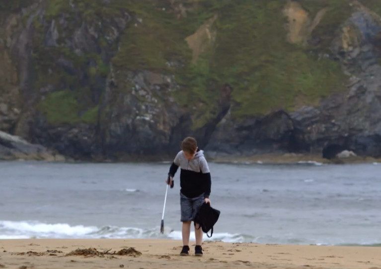 A still from the new short film by the Marine Institute