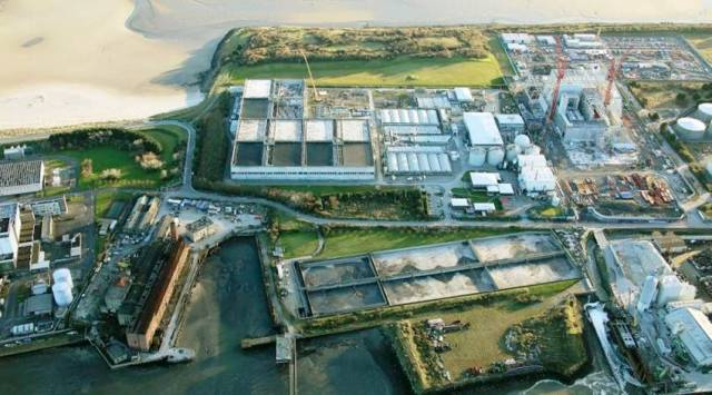 The wastewater treatment plant in Ringsend, where a tank failure led to a discharge of 'activated sludge' on Saturday morning