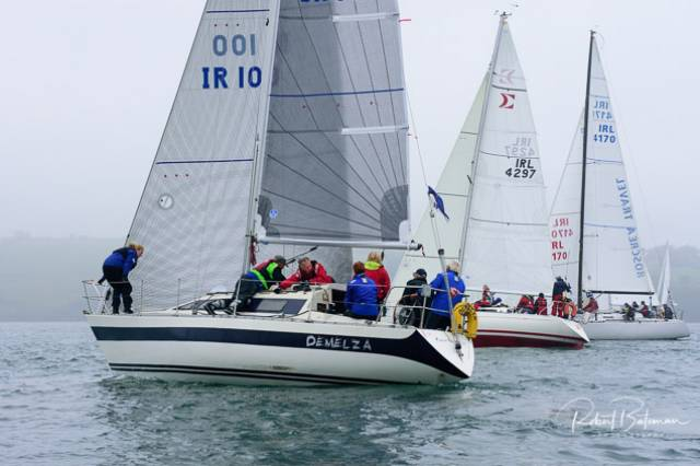 Howth Yacht Club's Demelza	competing in White Sails Division 2 of the Sovereign's Cup. Scroll down for photo gallery