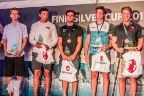 U23 Finn Bronze Medalist Fionn Leyden, (third from left) on the podium in Hungary