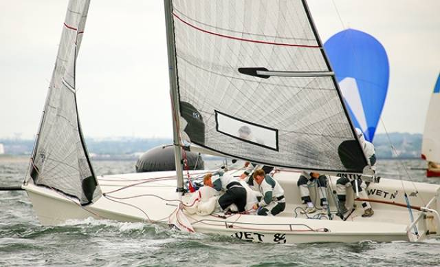 Antix sailed by Anthony O'Leary scored 6, 1 and 2 in the 17–boat 1720 Euro championships on Dublin Bay today. Slideshow below.