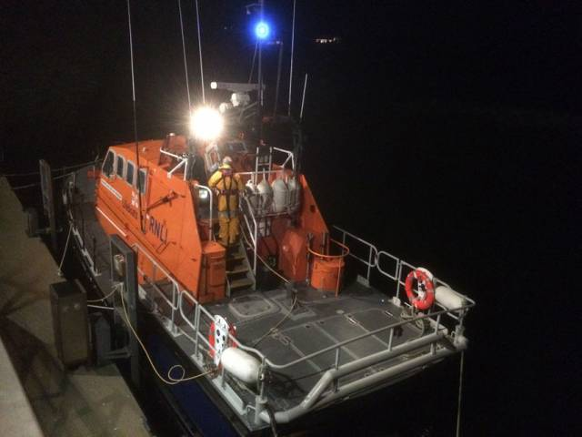Baltimore's all-weather lifeboat returning to station after Sunday night's medevac from Cape Clear Island