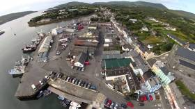 Aerial view of Castletownbere Harbour