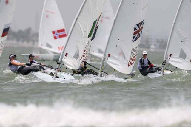 The National Yacht Club's Nell Staunton is up to eighth overall with one race left to sail