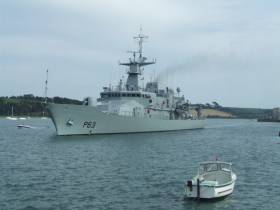The newest Irish Naval Service OPV90 class, LE William Butler Yeats was handed over from her North Devon shipbuilder